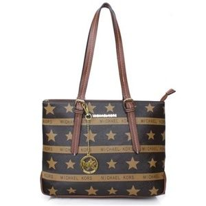 Michael Kors Star Logo Signature Large Coffee Tote